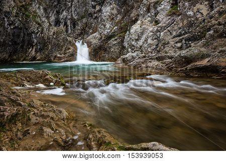 Sini vir waterfall, near the village of Medven, Bulgaria.