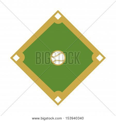 camp diamond baseball sport vector illustration design