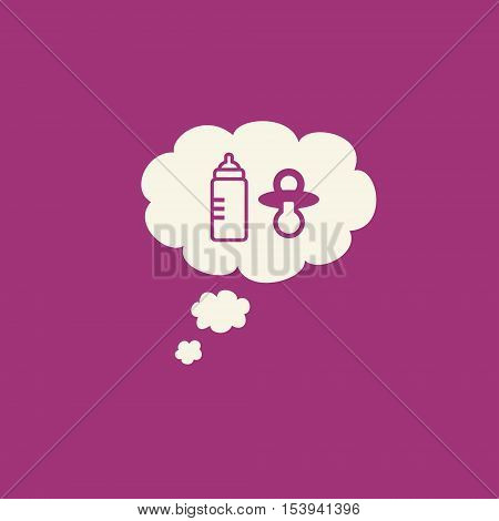 Family Planning Graphic With Baby Bottle And Pacifier Inside A Thought Bubble