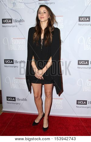 LOS ANGELES - OCT 27:  Troian Bellisario at the 2016 Visionary Ball at Beverly Wilshire Hotel on October 27, 2016 in Beverly Hills, CA