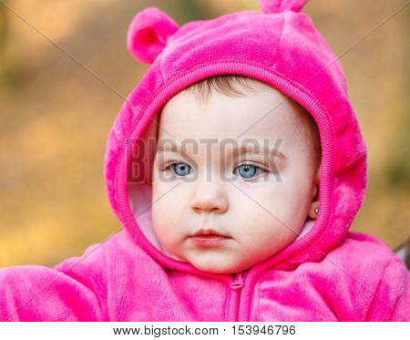 Portrait of an adorable smiling baby girl
