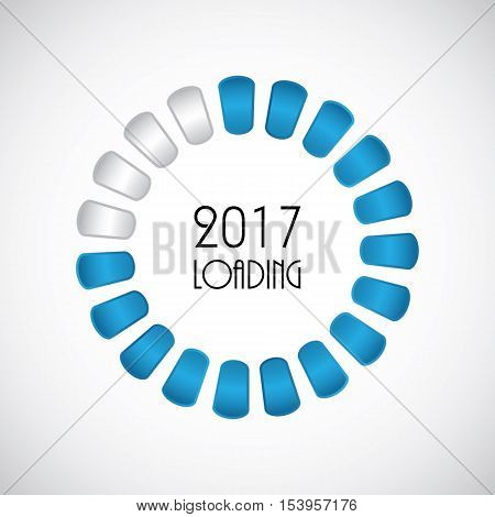2017 abstract background, new year loading ,vector illustration, eps10
