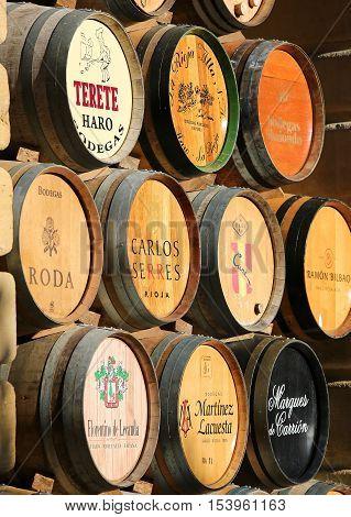 Wine Barrels In Haro, La Rioja, Spain