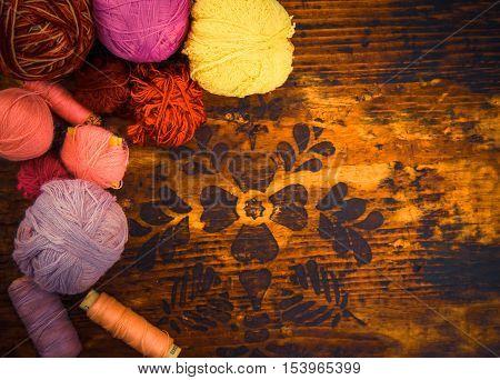 Yarn On Copy Space Area