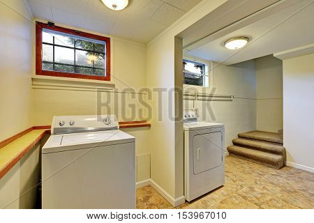 Basement Laundry Room Interior