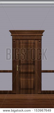 Door, architectural detail, illustration for projects of visualization and web design.
