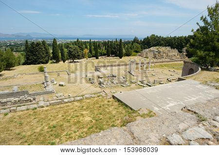 Historical Ruins Of Asclepieion On Kos