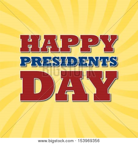 Presidents Day EPS 10 vector stock illustration