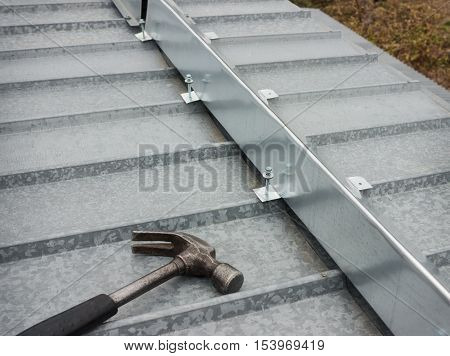 The Barrier For Snow Guard On The Edge Of Roof