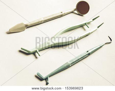 Vintage Looking Dentist Tools