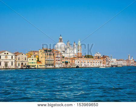 Giudecca Canal In Venice Hdr
