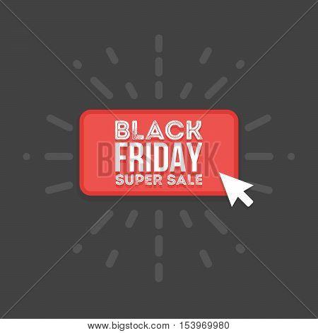 Black friday sale commerce vector illustration design. ouse click button.
