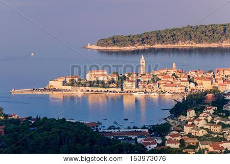 View of the town of Rab Croatian tourist resort on the homonymous island.