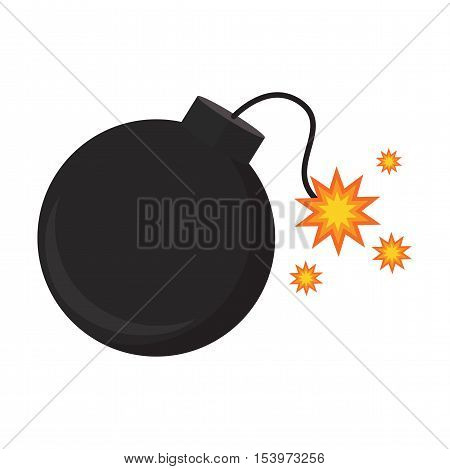 Flat icon bomb explosion. Web icon. Vector illustration.