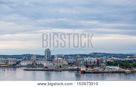 Coast of Victoria Vancouver Island British Columbia from the sea