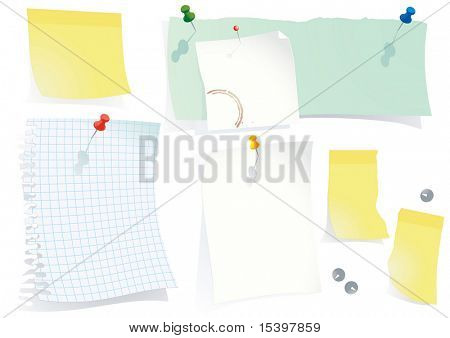 Office notes. Vector illustration poster