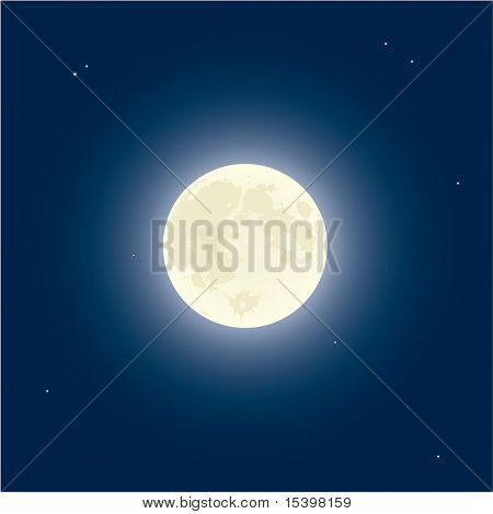 Moon. Vector illustration.
