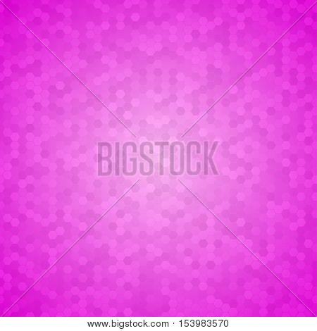 Mosaic Tile Honeycomb Vector Background. Comb Halftone Fone. Pink Background. Vector illustration for Web Design.