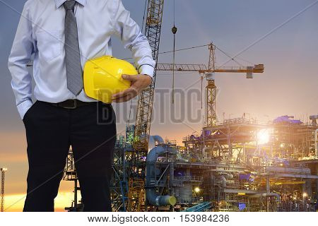 Safety Construction site concept with safety first .
