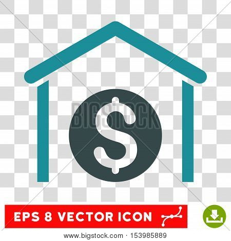 Money Storage vector icon. Image style is a flat soft blue icon symbol.