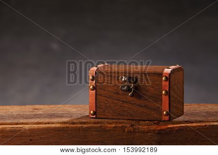chest box on top of wooden table