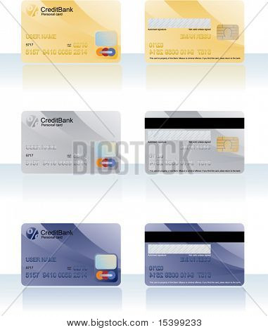 Kreditkarten. Vektor.