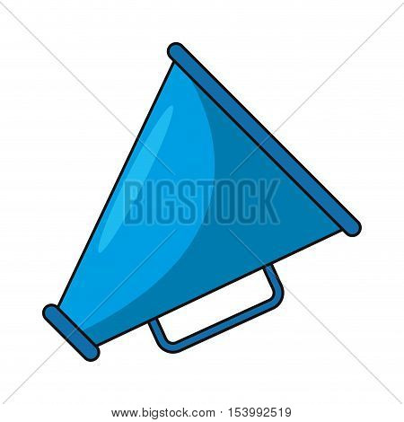 Cinema megaphone icon. Movie video media and entertainment theme. Isolated design. Vector illustration