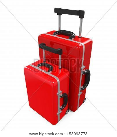 Travel Luggage isolated on white background. 3D render
