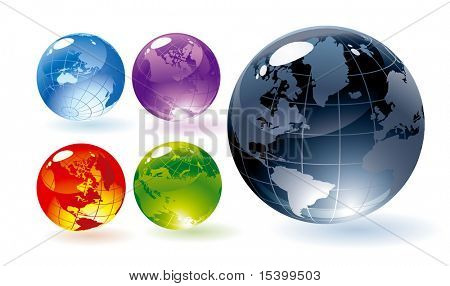 Color brillantes globos. Vector.
