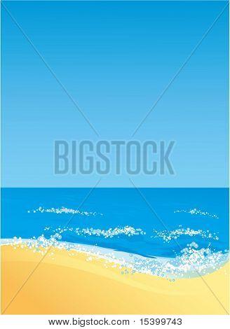 Ocean shore. Vector background.