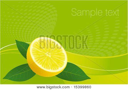 Lemon fresh vector background.