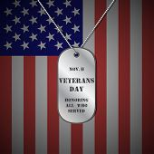 Veterans day background. Veterans day vector background. Veterans vector pattern. Veterans day design with dog tag. Veterans day stock vector. poster