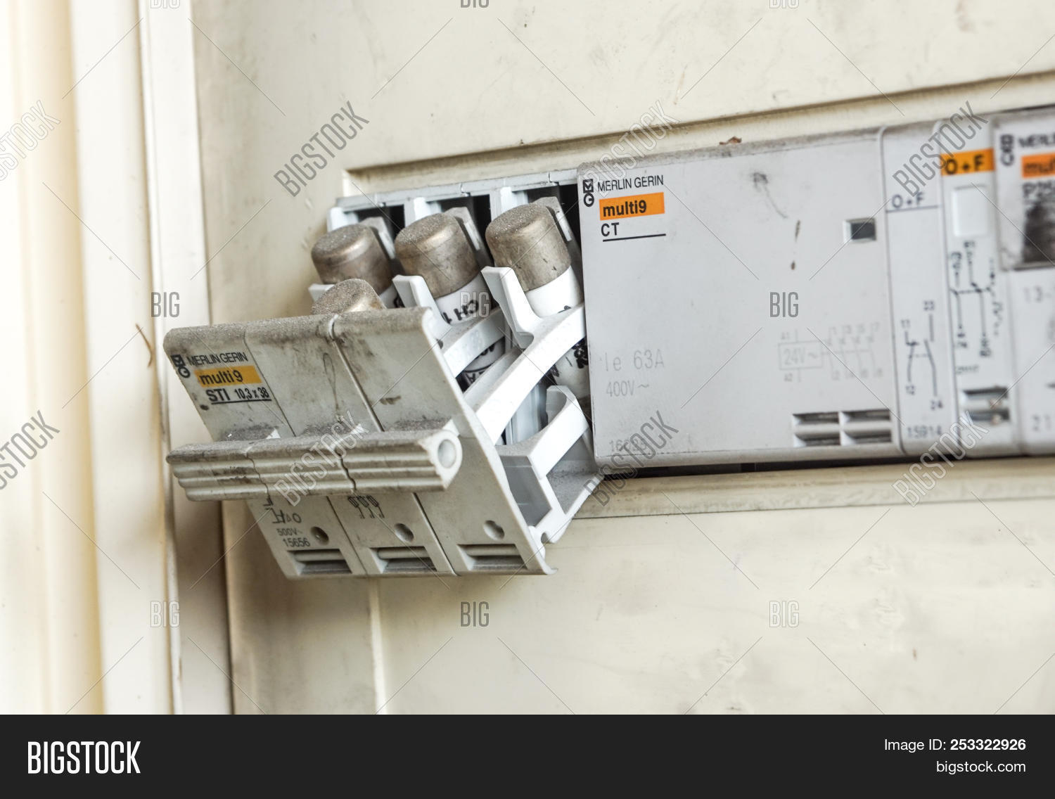 Old Big Fuse Box Wiring Diagram Schematics Home Glass Milan Italy June Image Photo Free Trial Bigstock Cable