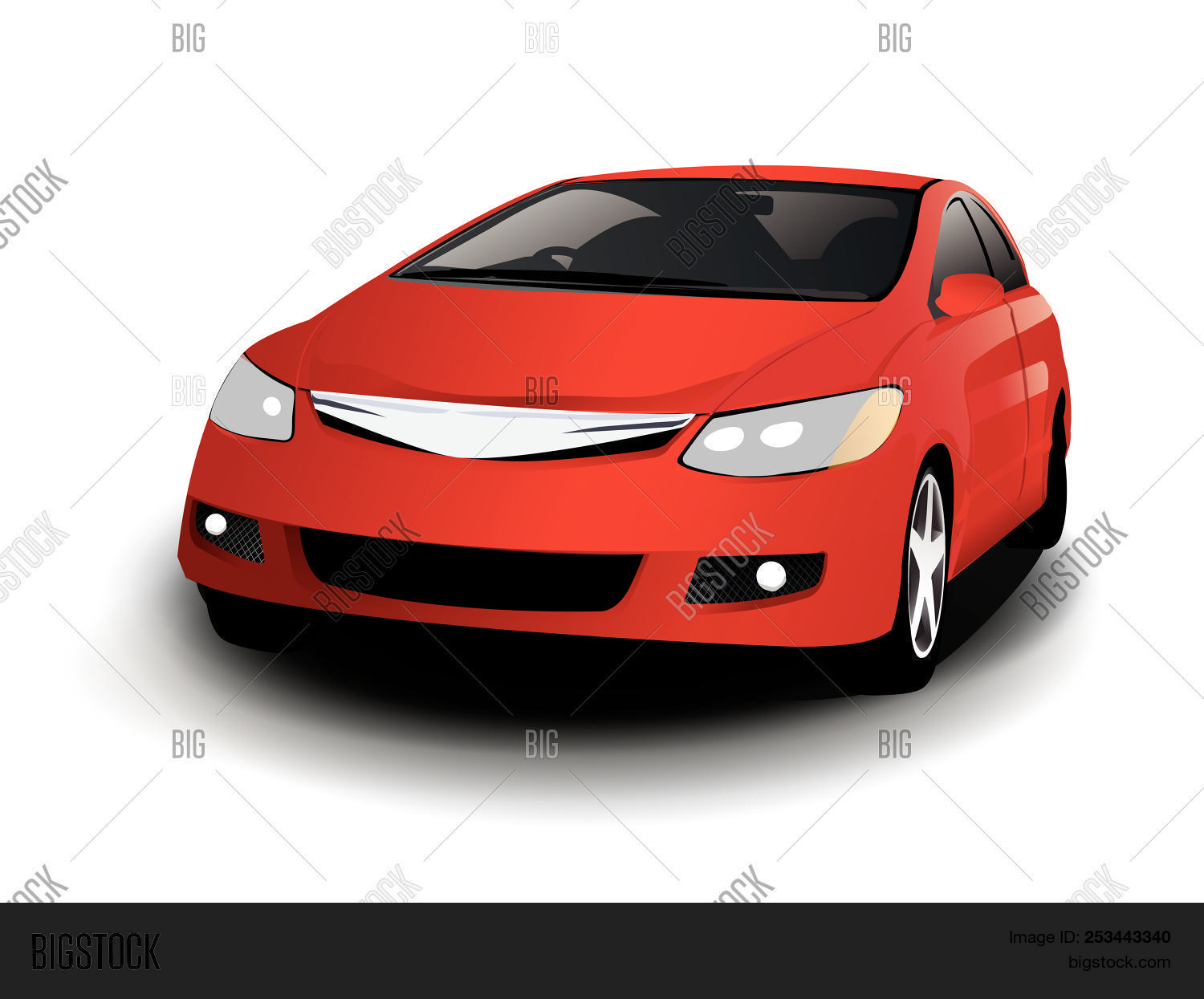 Vector Sports Red Car Vector Photo Free Trial Bigstock