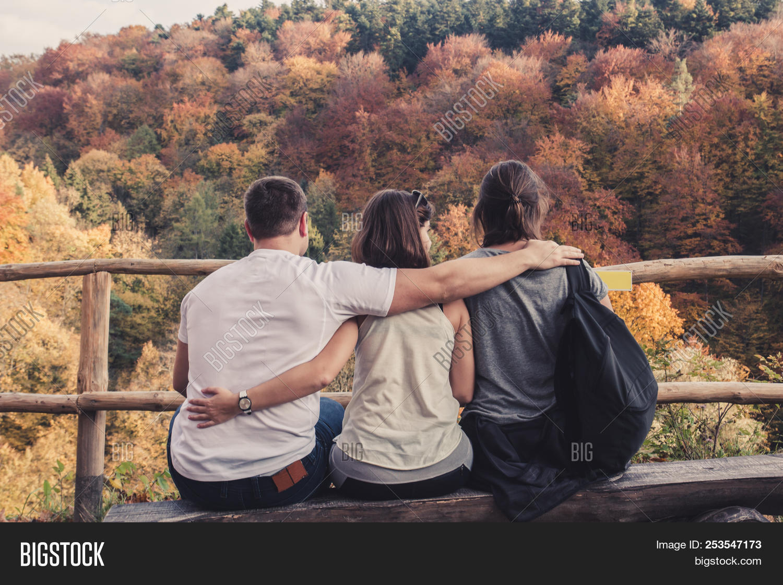 Awe Inspiring Three People Hugged Image Photo Free Trial Bigstock Bralicious Painted Fabric Chair Ideas Braliciousco