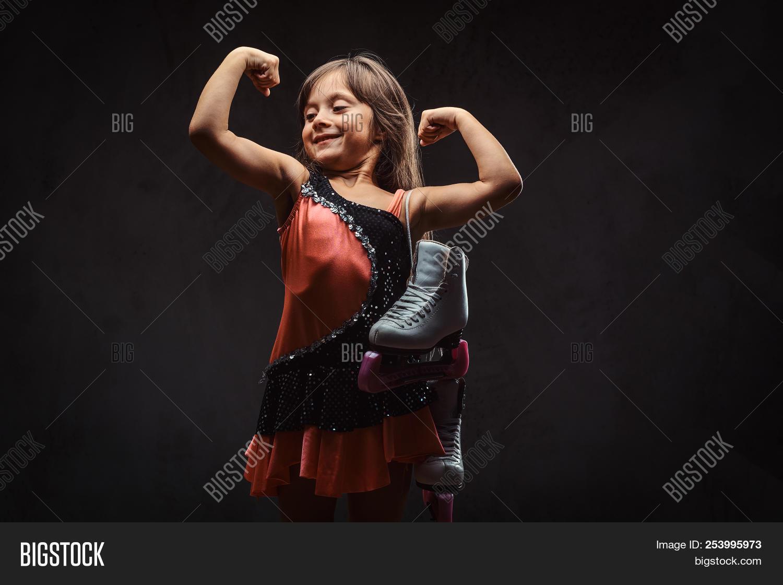 Girl little muscle Strong girl