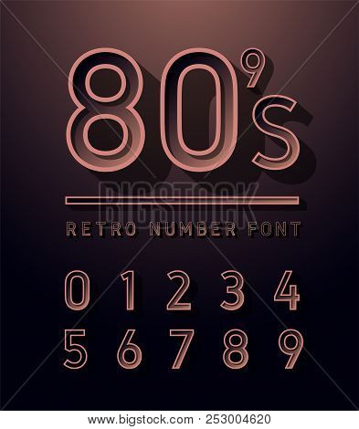 80s Number Copper Vector & Photo (Free Trial) | Bigstock