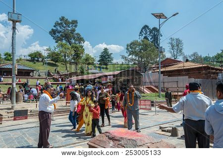 Kathmandu, Nepal - 13.04.2018: In The Pashupatinath Temple 13 April 2018, Kathmandu, Nepal.