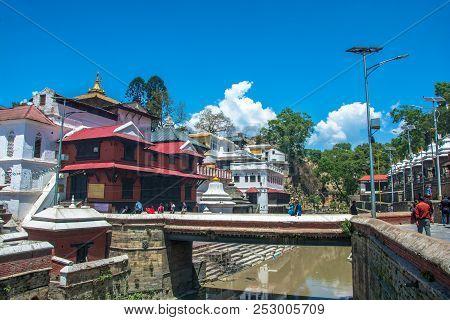In The Pashupatinath Temple 13 April 2018, Kathmandu, Nepal.