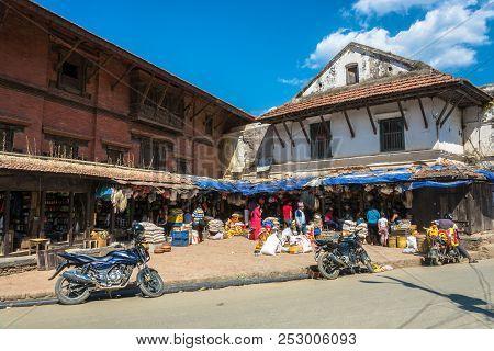 Shopping Arcade 13 April 2018 Kathmandu, Nepal.