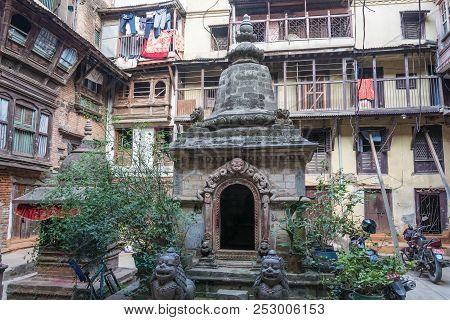 In Nepal Courtyard 13 April 2018 Kathmandu, Nepal.