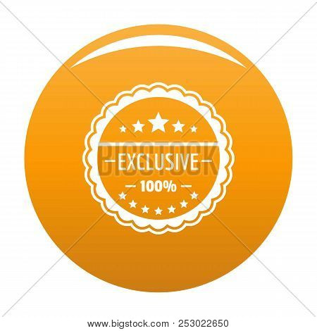 Exclusive Logo. Simple Illustration Of Exclusive Vector Logo For Any Design Orange