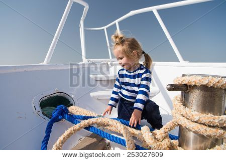 Vacation Concept. Summer Vacation. Child On Vacation. Vacation Time. The Sea Is Calling