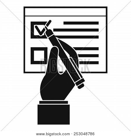 Vote Sign Paper Icon. Simple Illustration Of Vote Sign Paper Icon For Web Design Isolated On White B