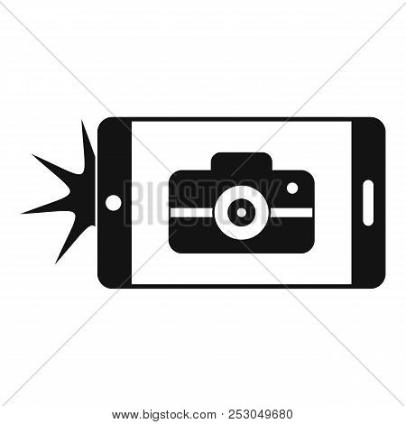 Smartphone Take Photo Icon. Simple Illustration Of Smartphone Take Photo Icon For Web Design Isolate