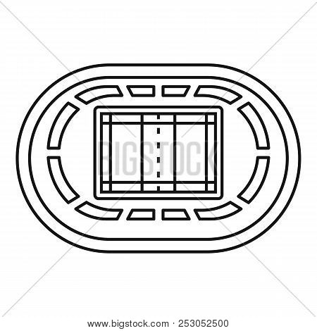 Top Volleyball Arena Icon. Outline Top Volleyball Arena Icon For Web Design Isolated On White Backgr