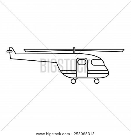 Rescue Helicopter Icon. Outline Rescue Helicopter Icon For Web Design Isolated On White Background
