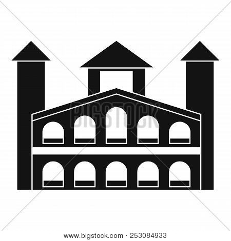 Historical Building Icon. Simple Illustration Of Historical Building Icon For Web Design Isolated On