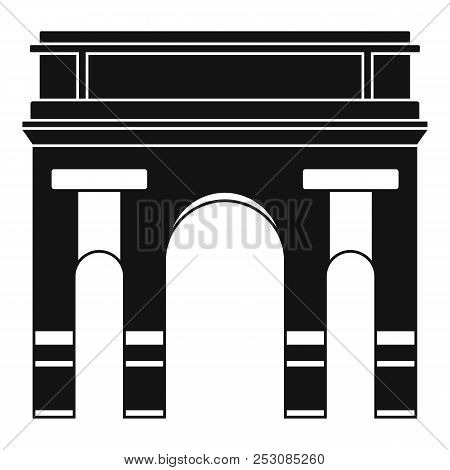 Historical Arch Icon. Simple Illustration Of Historical Arch Icon For Web Design Isolated On White B