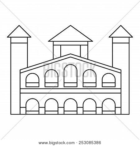 Historical Building Icon. Outline Illustration Of Historical Building Icon For Web Design Isolated O